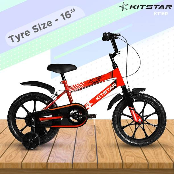 Kitstar KT16R Kids Cycle for 5 - 8 Years Semi Assembled 16 T BMX Cycle