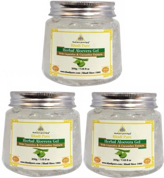 KHADI Aloevera White Gel - 200g (Set of 3)
