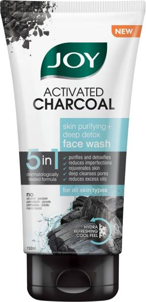 Joy Activated Charcoal Skin Purifying+Deep Detox Face Wash