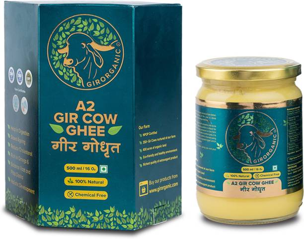 GIRORGANIC GIR COW GHEE 500 ML Ghee 500 ml Glass Bottle