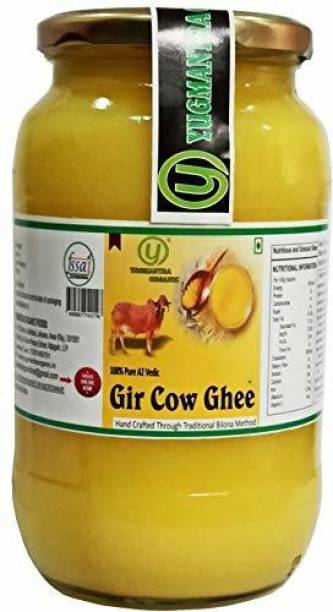 YUGMANTRA ORGANIC Pure Desi A2 Gir Cow Ghee ( 1000 ml ) 1000 ml Glass Bottle