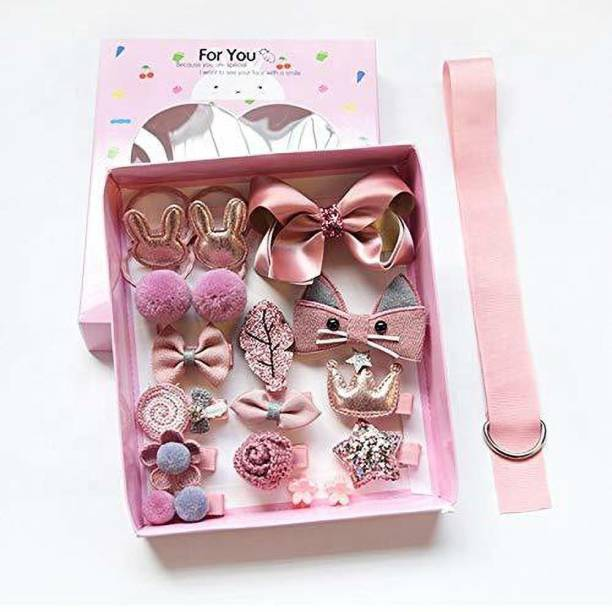 Xeekart 18 Pcs Baby Hair Clips Small Safety Clip Princess Hairpin Baby Hair Accessories Fancy Head Hair Accessory Set Gift Box Hair Accessory Set