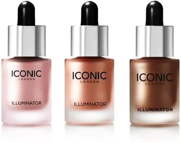 RVbasera ICONIC HIGHLIGHTER ILLUMINATORS BLOSSOM ORIGINAL GLOW PACK OF 3 Highlighter