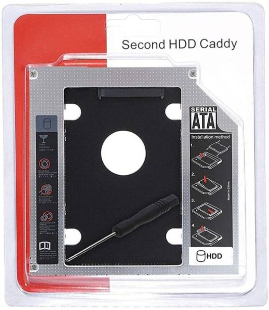 StoreIN 2.5 inch Upgraded Version SATA Optical UltraBay 2nd Hard Drive Caddy with SSD or HDD for 9.5mm Universal CD/DVD Slot. CADDY Internal Optical Drive