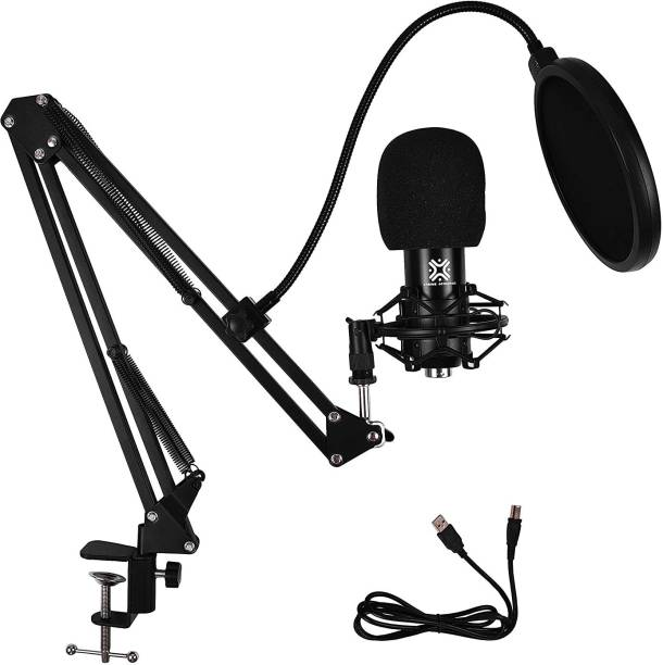 Xtreme Acoustics XA-CK01-KIT CK-01-BK-U KIT USB Condensor Microphone kit for Computer/laptop,Multipurpose Mic with Boom Arm, Shock Mount. MICROPHONE