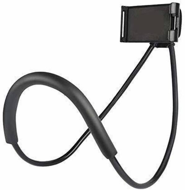 digilex Flexible 360° Degree Rotation Hanging Neck Lazy Mobile Phone Tablet Holder for 4-6 inches for Flexible Duel Clip Mobile Holder