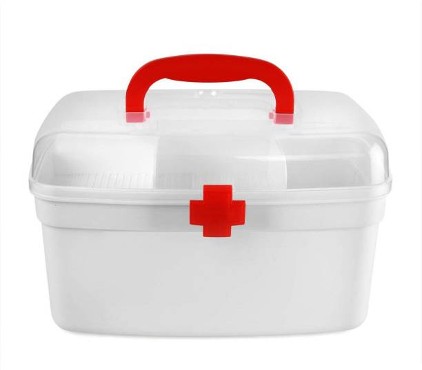 DALUCI Any Time First Aid Kit Emergency Medicine And Medical Storage Box and Lid with Handle Portable for Home Camping Travel Hiking Pill Box