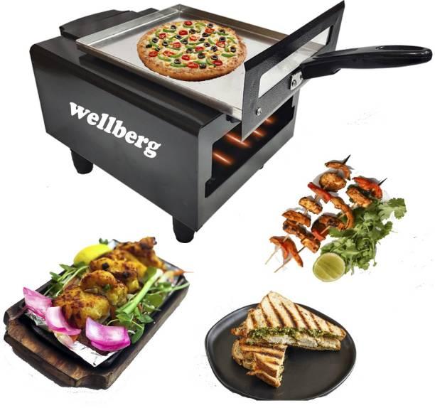 Wellberg Micro Smart Looking Electric Tandoor Combo 1500 W (Black) Steel Element for Heating Pizza Maker