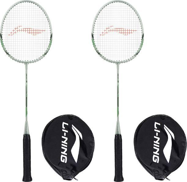 LI-NING XP-80-IV Grey, Green Strung Badminton Racquet