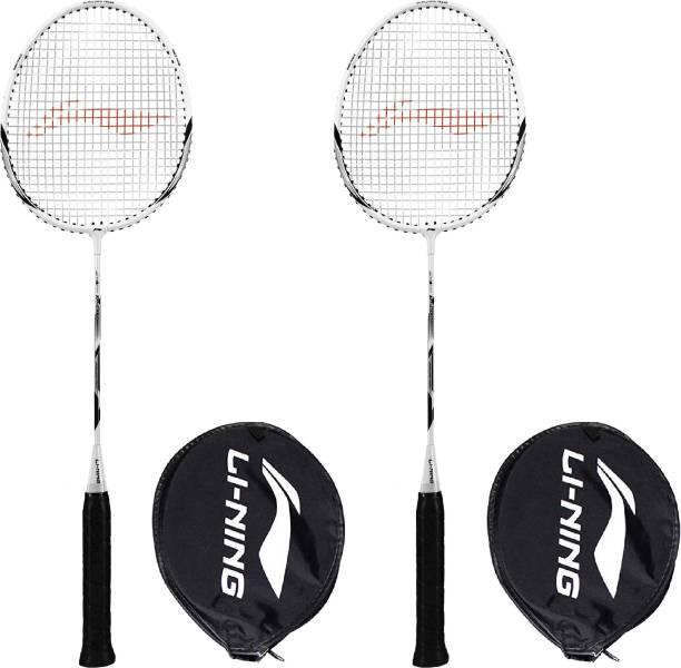 LI-NING XP-90-IV Grey, Green Strung Badminton Racquet