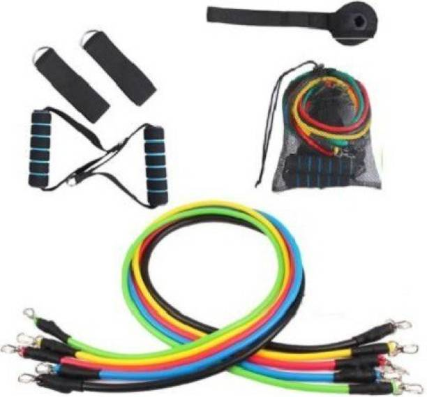 ADONYX Power resistance band 11 Pcs Set for Beginner to Experts Resistance Tube