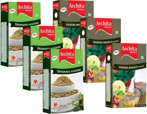 Archita Dhaniya Powder(50g x 3) & Jaljeera Masala Powder(50g x 3) Pack of 6
