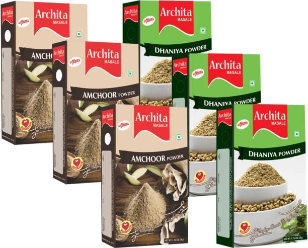 Archita Amchoor Powder(50g x 3) & Dhaniya Powder(50g x 3) Pack of 6