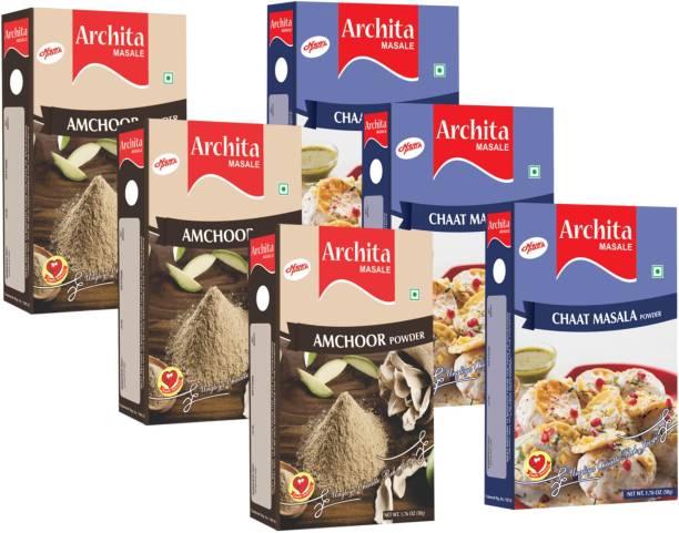 Archita Amchoor Powder(50g x 3) & Chaat Masala Powder(50g x 3) Pack of 6