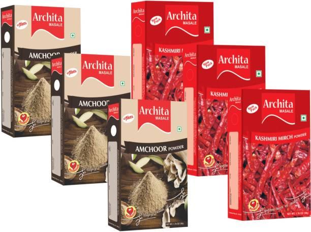 Archita Amchoor Powder(50g x 3) & Kashmiri Mirch Powder(50g x 3) Pack of 6