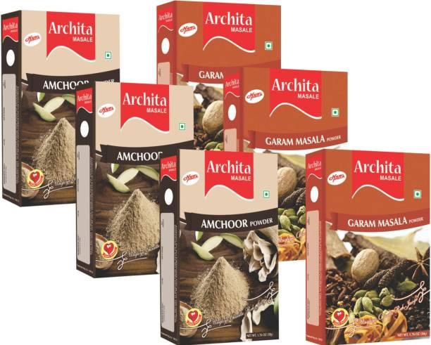 Archita Amchoor Powder(50g x 3) & Garam Masala Powder(50g x 3) Pack of 6