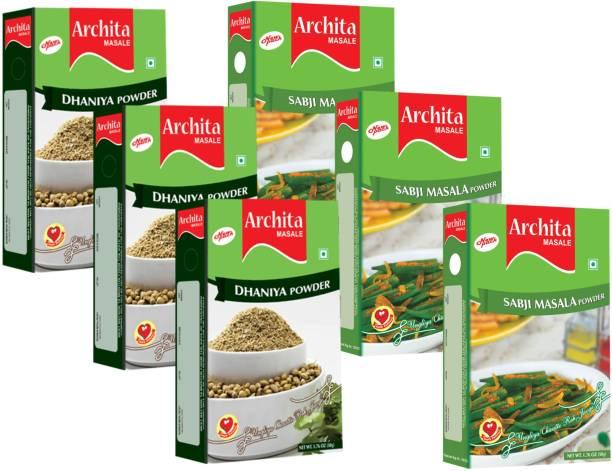Archita Dhaniya Powder(50g x 3) & Sabji Masala Powder(50g x 3) Pack of 6