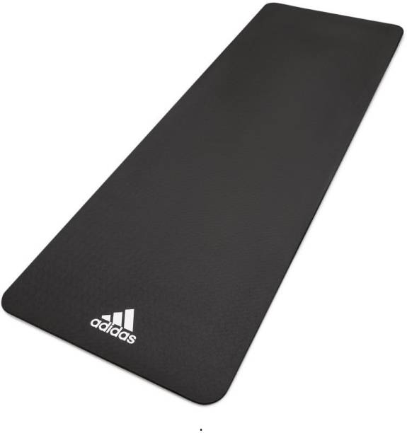 ADIDAS Yoga Mat - 8mm Black Black 8 mm Yoga Mat