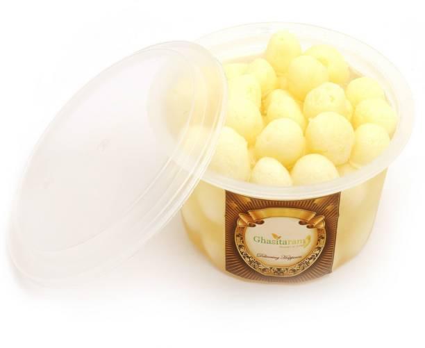 Ghasitaram Gifts Sweets: Fresh Chenna Angoor (mini Rosgulla) Small Pack - 500 gms Mason Jar