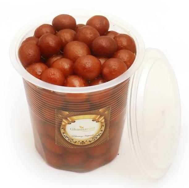 Ghasitaram Gifts Sweets: Fresh Shahi Gulab Jamun Pack Big - 900 gms Vacuum Pack