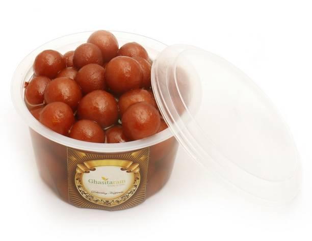 Ghasitaram Gifts Sweets: Fresh Shahi Gulab Jamun Pack Small - 500 gms Vacuum Pack