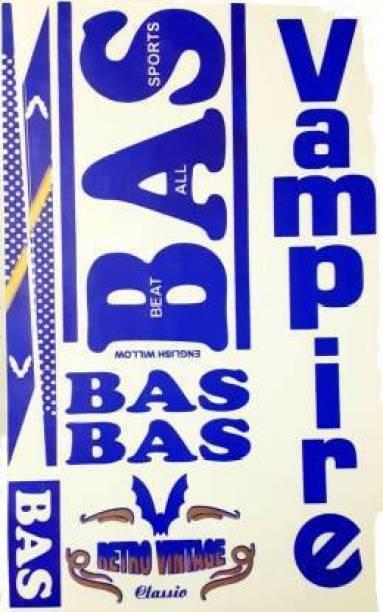 BAS GTM BA_S Vampire RETRO VINTAGE CLASSIC CRICKET BAT STICKER Bat Sticker