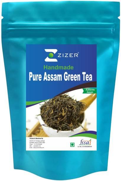 ZIZER Handmade Assam Green Tea Green Tea Pouch