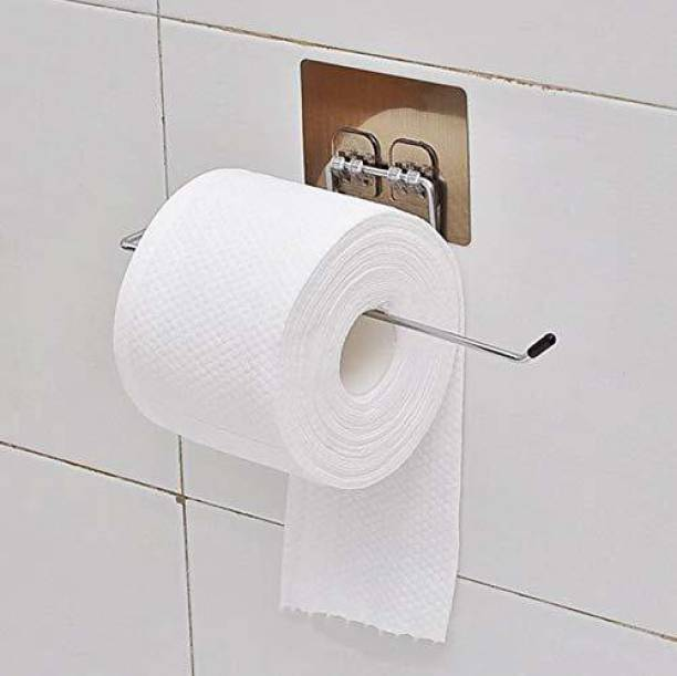 AMEEDARSHAN Paper Towel Holder with Magic Adhesive Pad, Kitchen Paper Roll Holder Wall Mount, Stainless Steel Self Adhesive Wall Mount Towel Bar for Kitchen Bathroom Iron Toilet Paper Holder