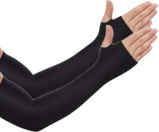STUTAKRITI U V PROTECTION FULL ARM SLEEVES FOR RIDERS BLACK COLOUR 1 PC Driving Gloves