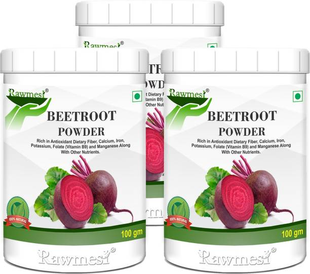 Rawmest Pure Ayurvadic Beetroot Powder| High Source Of Dietry Fiber| High In Calcium & Iron