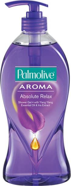 PALMOLIVE Aroma Absolute Relax Body Wash, Gel Based Shower Gel with 100% Natural Ylang Ylang Essential Oil & Iris Extracts - pH Balanced, No Parabens, No Silicones (Pump)