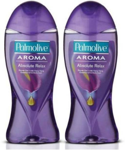 PALMOLIVE Aroma Absolute Relax Body Wash, Gel Based Shower Gel with 100% Natural Ylang Ylang Essential Oil & Iris Extracts - pH Balanced, No Parabens, No Silicones