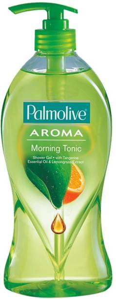 PALMOLIVE Aroma Morning Tonic Body Wash, Gel Based Shower Gel with 100% Natural Citrus Oil & Lemongrass Extracts - pH Balanced, No Parabens, No Silicones (Pump)