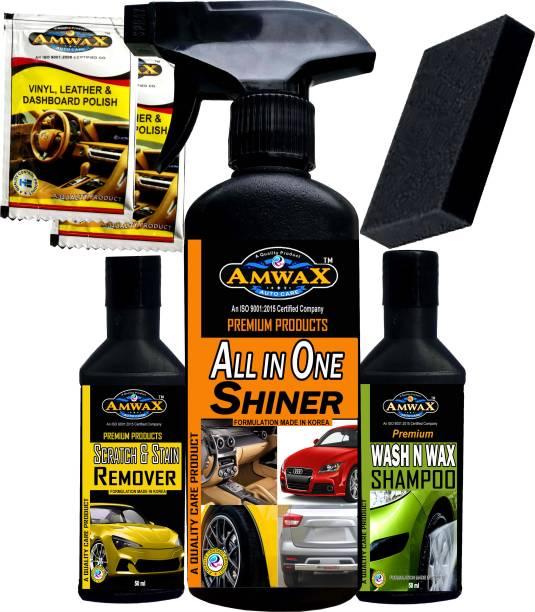 amwax Liquid Car Polish for Exterior, Headlight, Metal Parts, Dashboard, Tyres