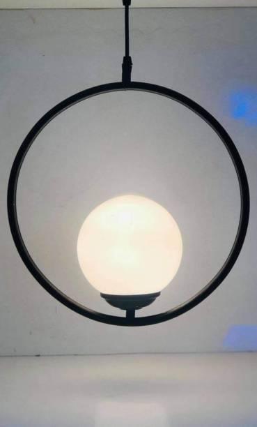 LazyHomez Round Circle Pendant Hanging Ceiling LED Light Lamp (Black) Pendants Ceiling Lamp