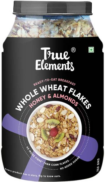 True Elements Wheat Flakes With Honey And Almonds