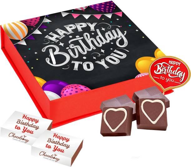 Chocoloony Happy Birthday Chocolate Gift Box, I Love You Milk Chocolate Truffles