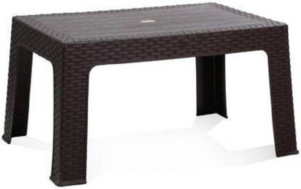 Anmol Moulded Furniture Fixed Centre Table With 1 Year Guarantee pack of 1 Plastic Outdoor Table (Finish Color - Brown) Plastic Coffee Table