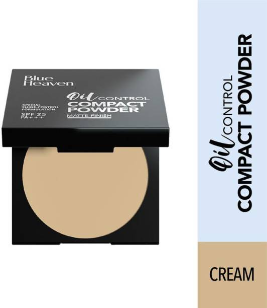 BLUE HEAVEN Oil control Compact Powder, Cream 201 Compact