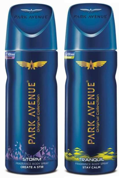 PARK AVENUE One Storm, One Tranquil Deodorant Combo for Men(Pack of 2) Deodorant Spray  -  For Men