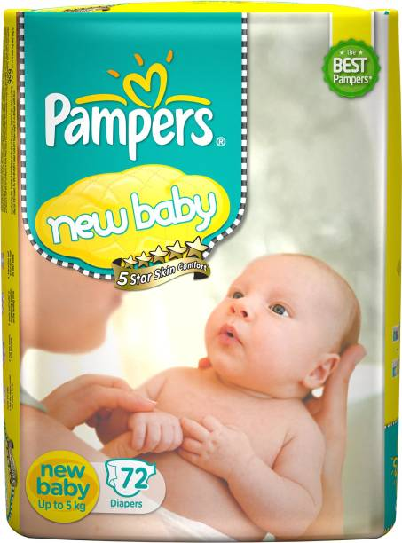 Pampers Active Baby Taped Diapers 5 Star Skin Protection - New Born