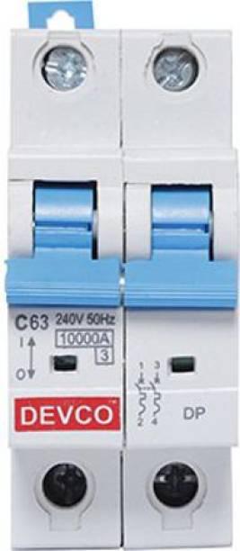 DEVCO 2-Pole 63-Amp (C-Curve 10kA) MCB20630C MCB
