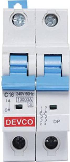 DEVCO 2-Pole 16-Amp (C-Curve 10kA) MCB20160C MCB
