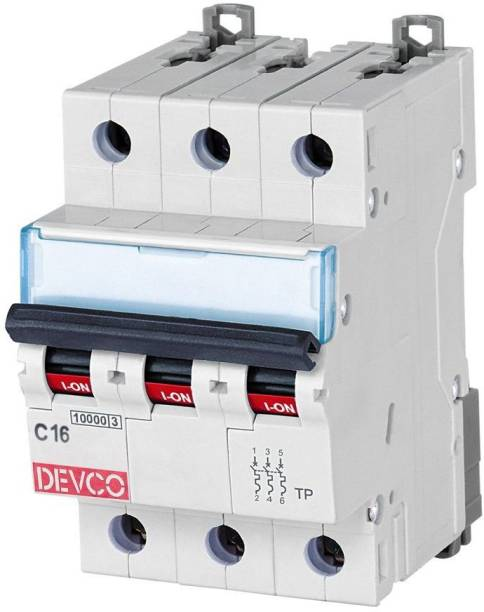 DEVCO 3-Pole 16-Amp (C-Curve 10kA) MCB30160C MCB