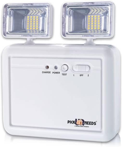Pick Ur Needs Rocklight Emergency Portable Invertor AC/DC Modes with Twin Spot Light Flood Lamp Emergency Light