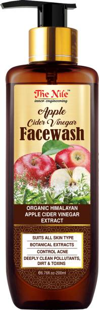 The Nile Apple Cider Vinegar  - For Cleansing Skin, Balancing Skin Oils- No Parabens, Sulphate, Silicones & Color  - 200ML Face Wash