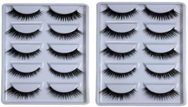 Plethora Natural Black Thick Long False Eyelashes Makeup Extension