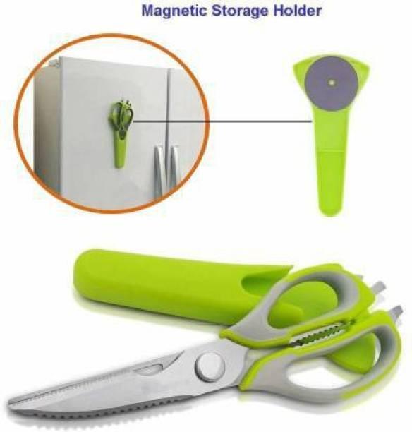 ADONYX 10 in 1 Mighty Shears Scissor Multipurpose Stainless Steel Scissor Best Shear Of Cooking Scissor Knife/Cutter/Peeler/Opener/Fish Scale Scraper/Slicer/Nutcracker Stainless Steel All-Purpose Scissor