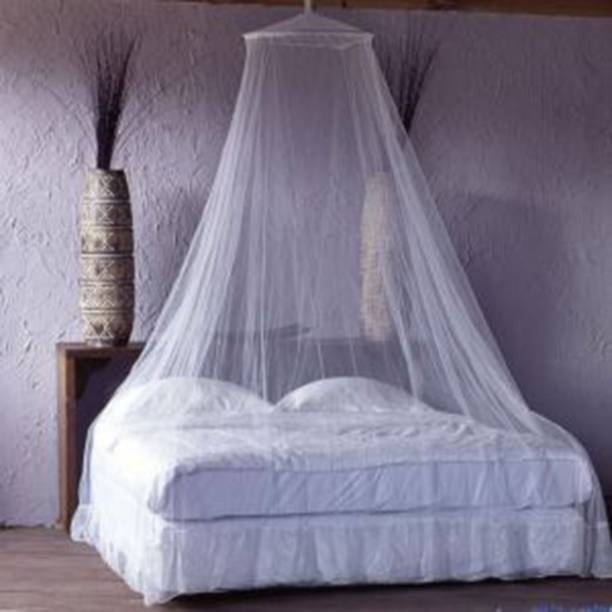 Neruti Enterprise Polyester Adults Double bed ( Round ) Mosquito Net