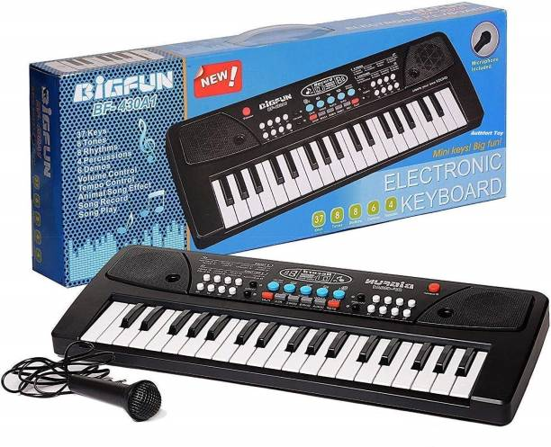 BIGFUN 37 Key Piano Keybt For Kids  (Black)